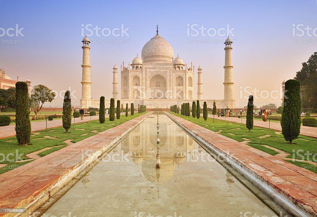 Taj Mahal sunrise with reflection royalty-free stock photo