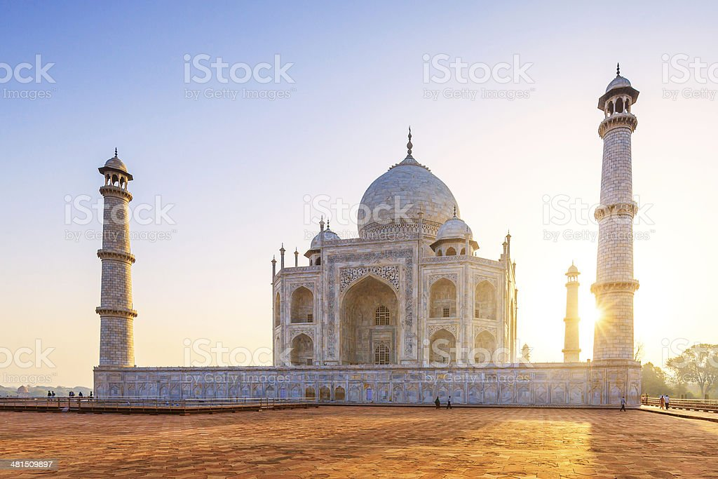Taj Mahal Sunset stock photo