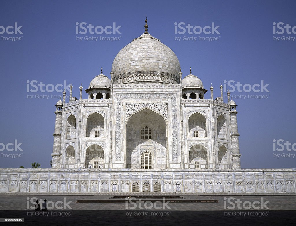 Taj Mahal Temple in Agra in India royalty-free stock photo