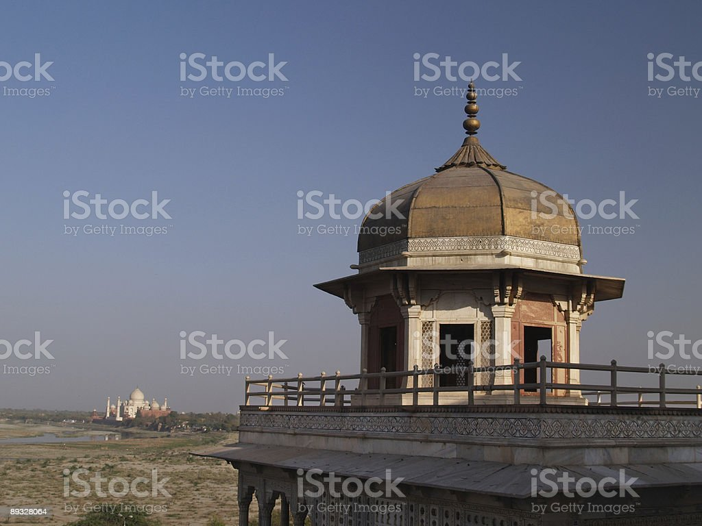 Taj Mahal view from the Red Fort in Agra, India royalty-free stock photo