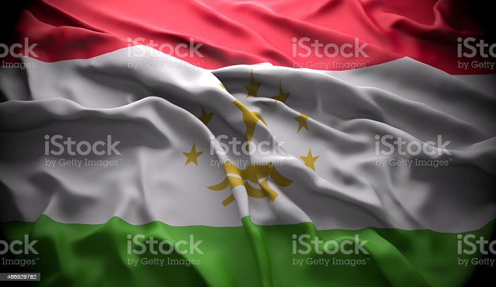 Tajikistan, Dushanbe national official state flag stock photo