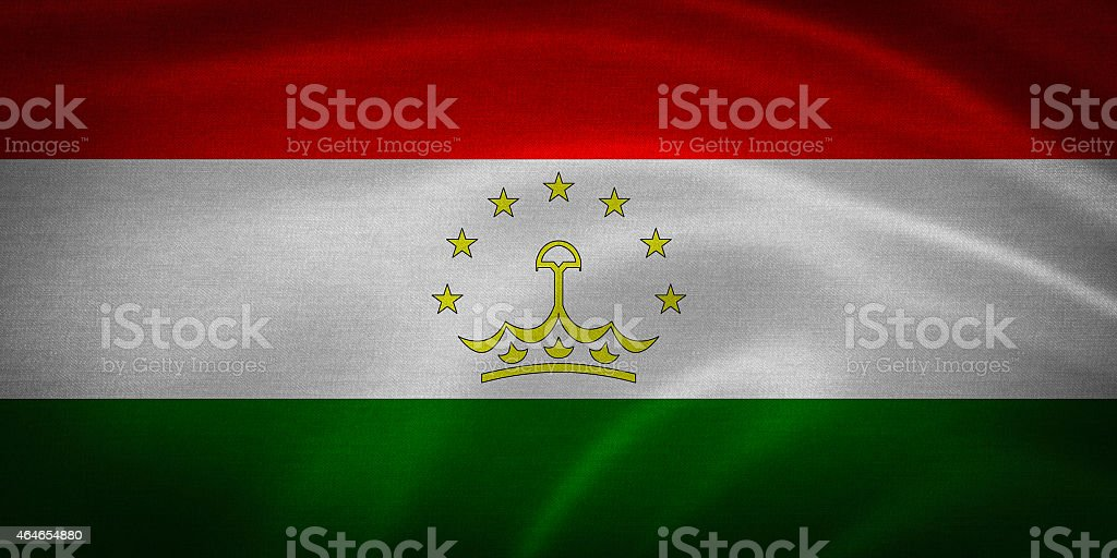 tajikistan flag stock photo