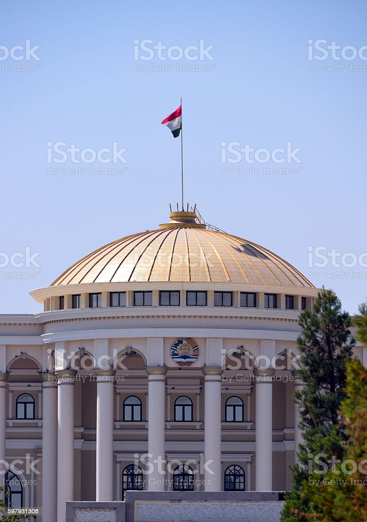Tajikistan presidential palace - Dushanbe stock photo