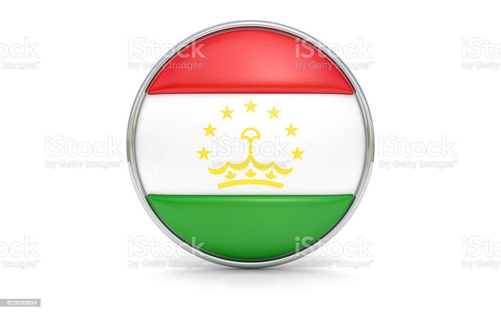 Tajikistani flag stock photo