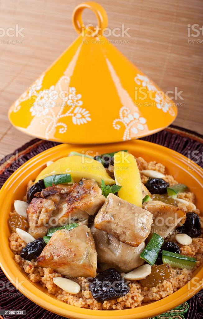Tajine, Moroccan food. stock photo