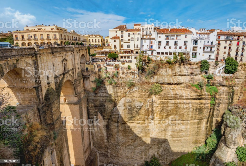 Tajo Gorge. Ronda, Andalusia, Spain stock photo