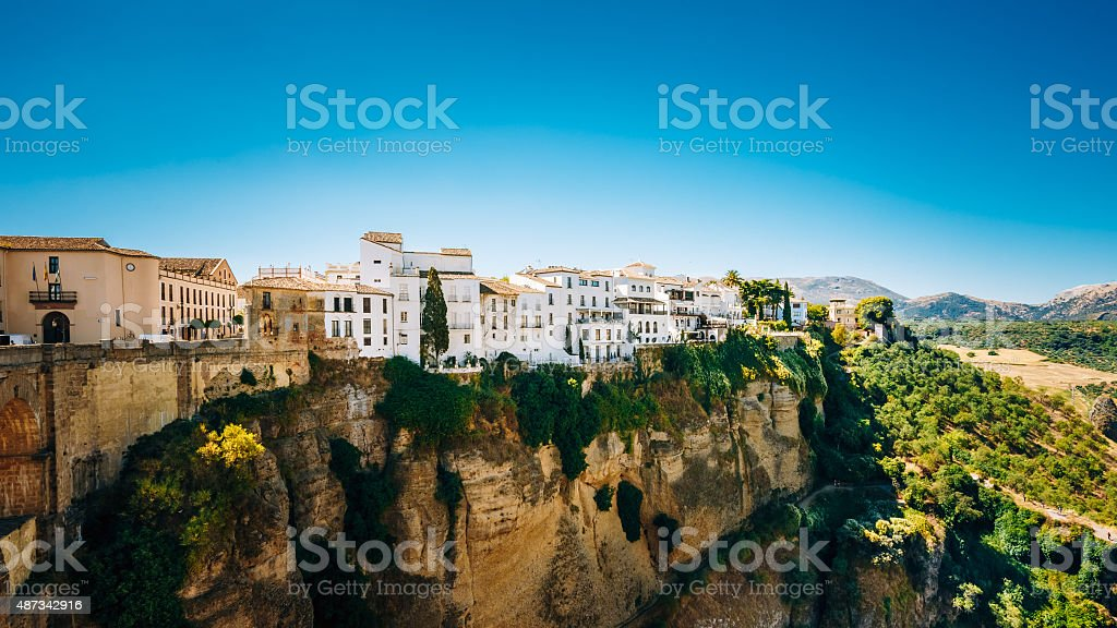 Tajo Ronda Is Gorge Carved By Guadalevin River, Spain stock photo