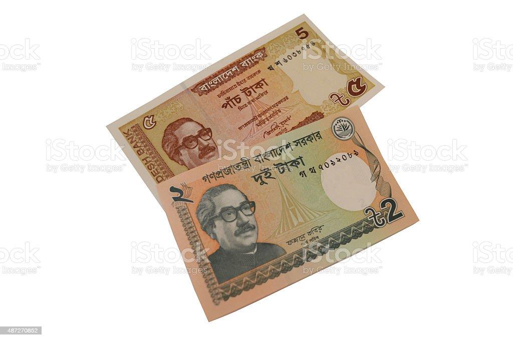taka bangladesh billete de banco de la serie moneda foto de stock libre de derechos