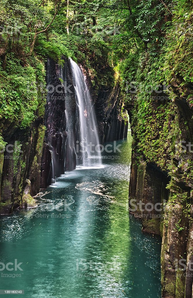 Takachiho gorge royalty-free stock photo