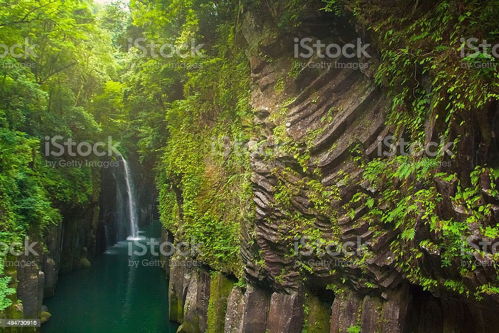 Takachiho gorge stock photo