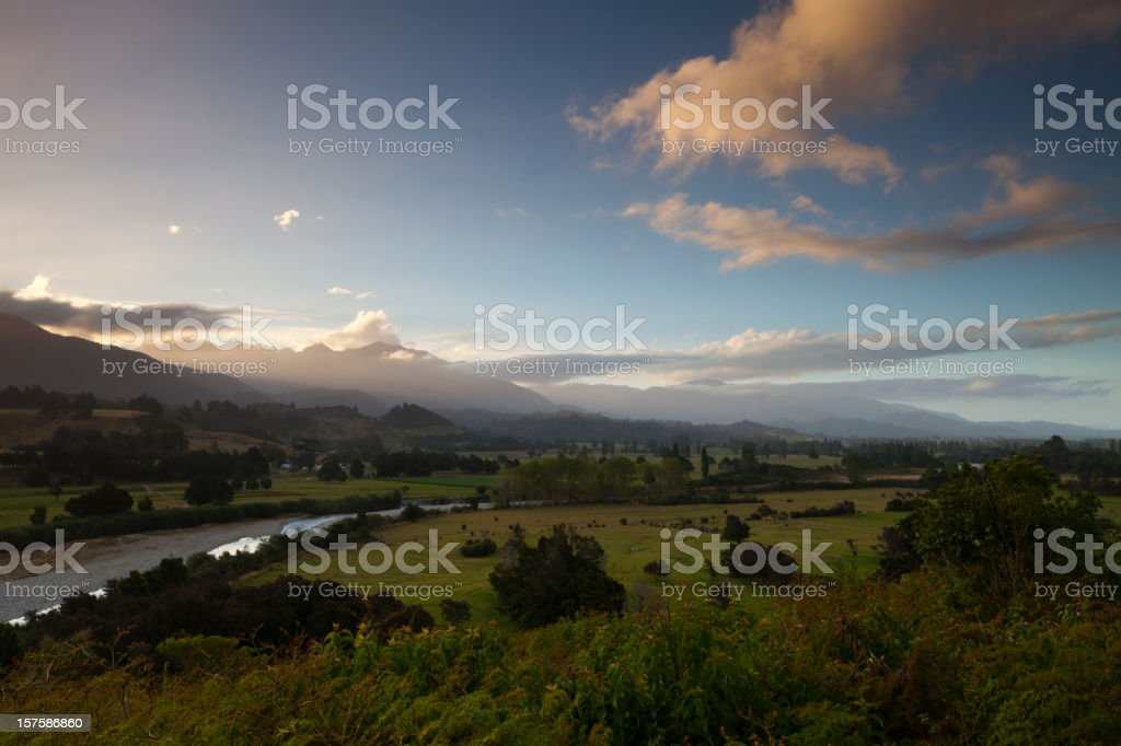 Takaka Valley stock photo