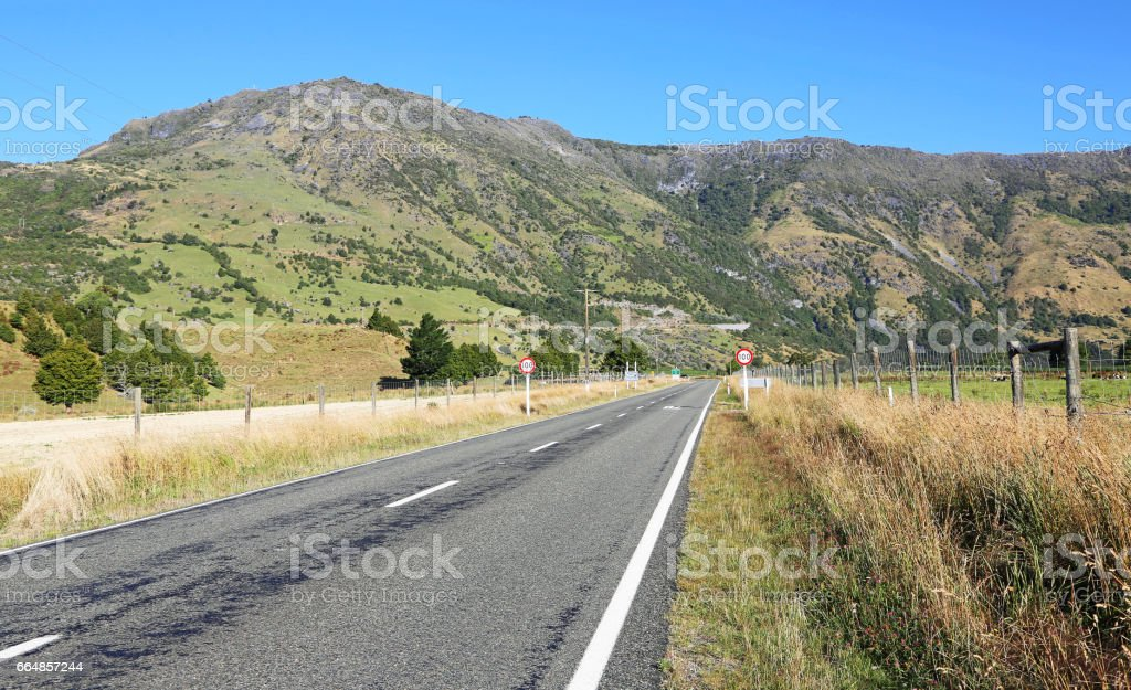 Takaka Valley road stock photo