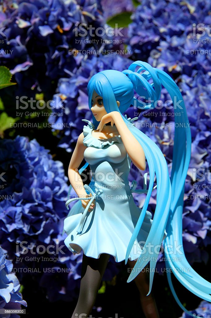 Takao in Flowers stock photo