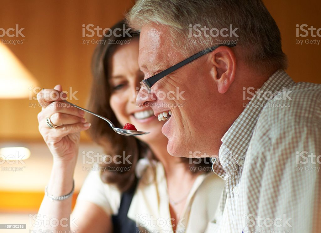 Take a bite, honey stock photo