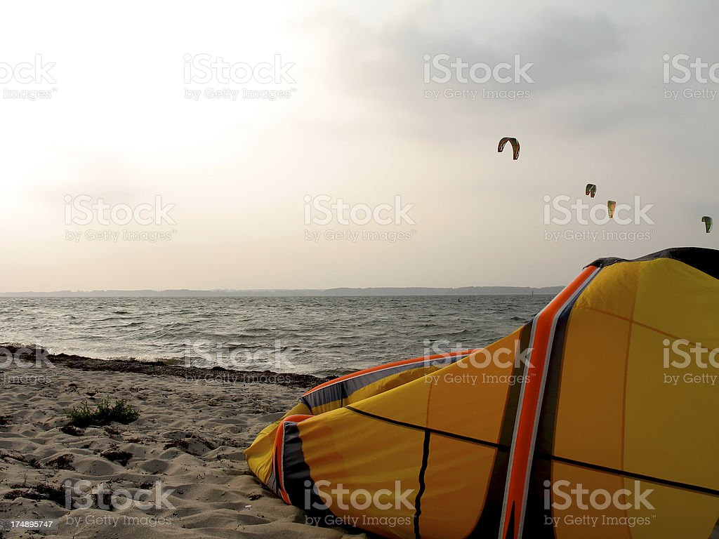take a break and see the kites dancing stock photo