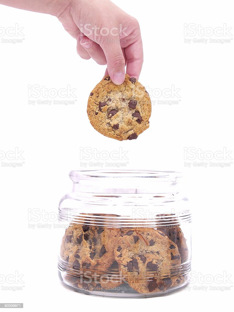 Take a Cookie royalty-free stock photo