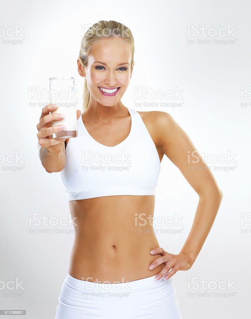 Take a deep drink stock photo