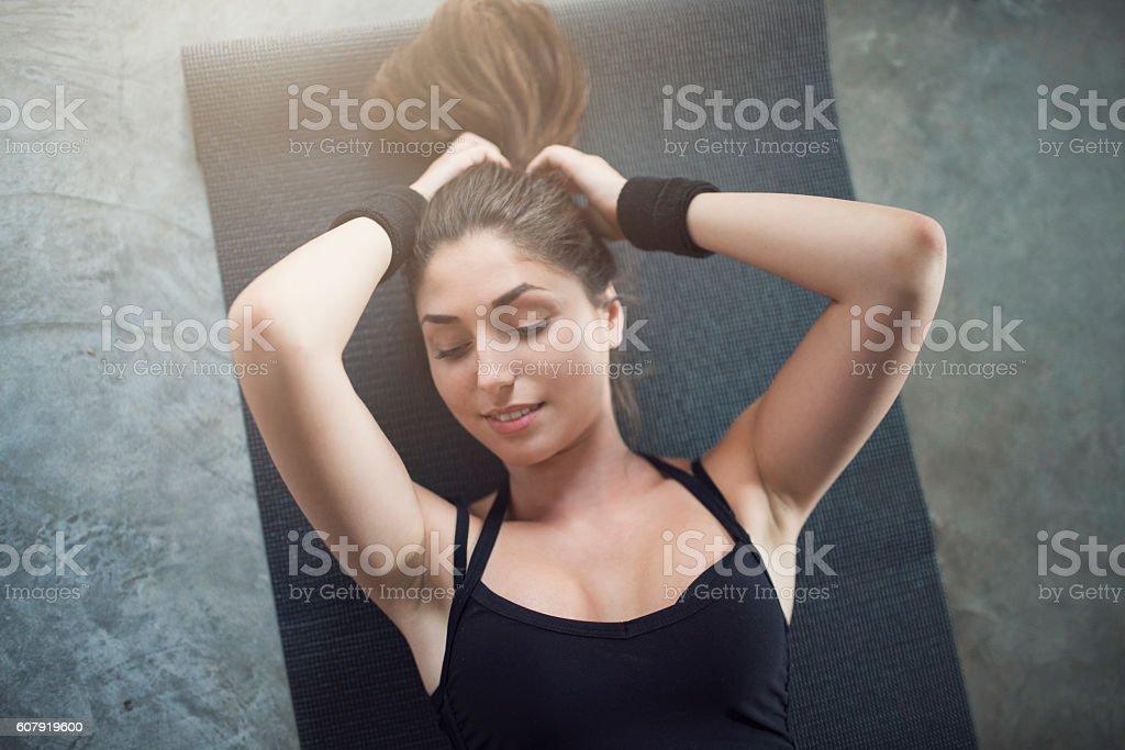 Take a few breaths stock photo
