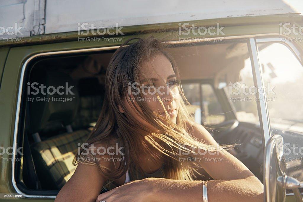 Take a road trip stock photo