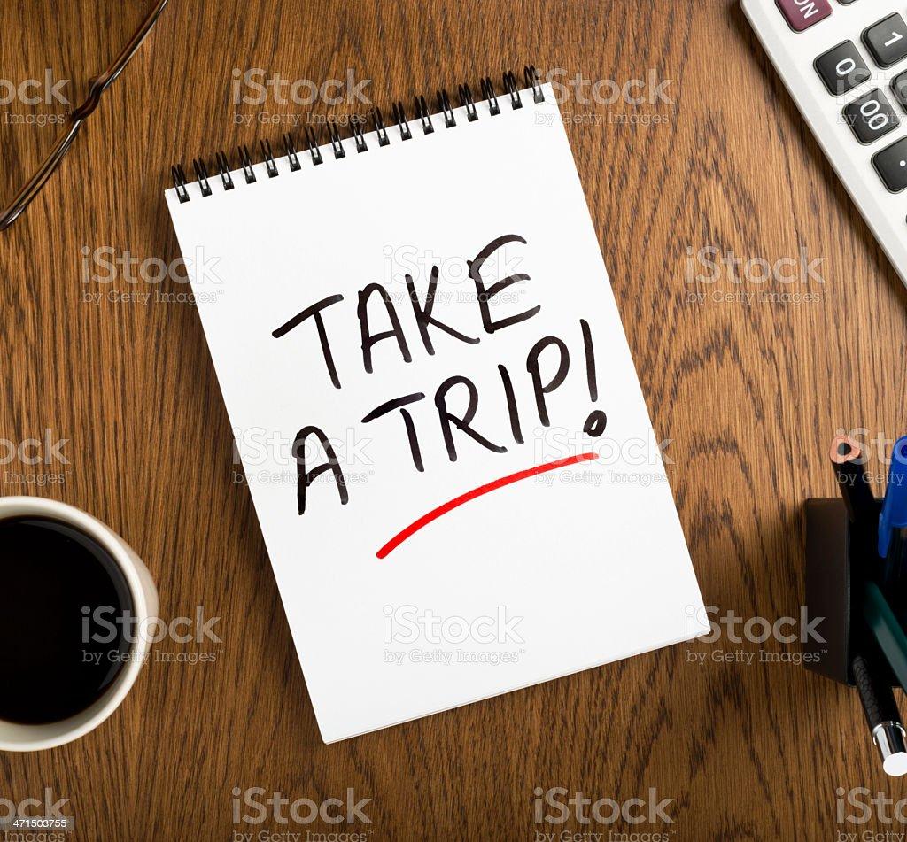 take a trip royalty-free stock photo