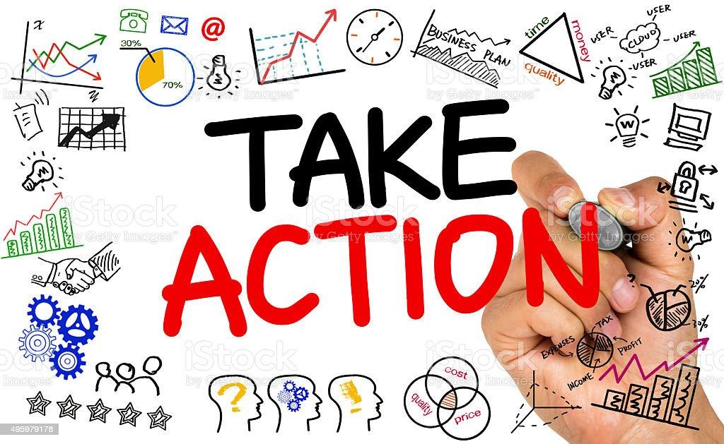 take action stock photo
