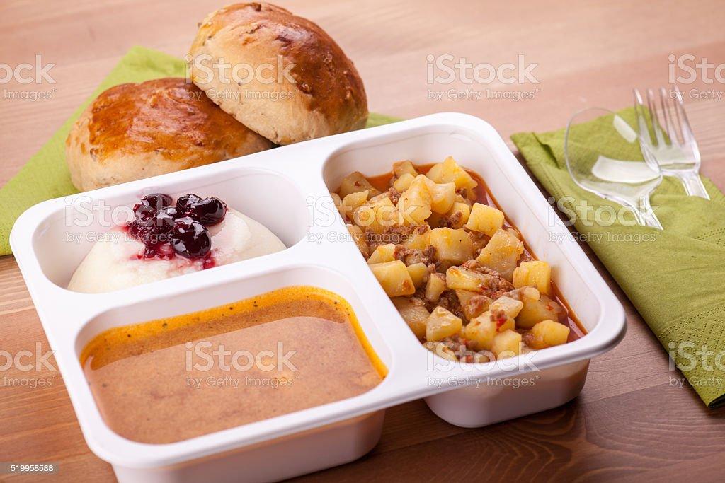 Take away food photo stock photo