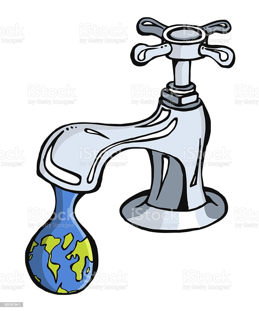 Take care the water worldwide royalty-free stock photo