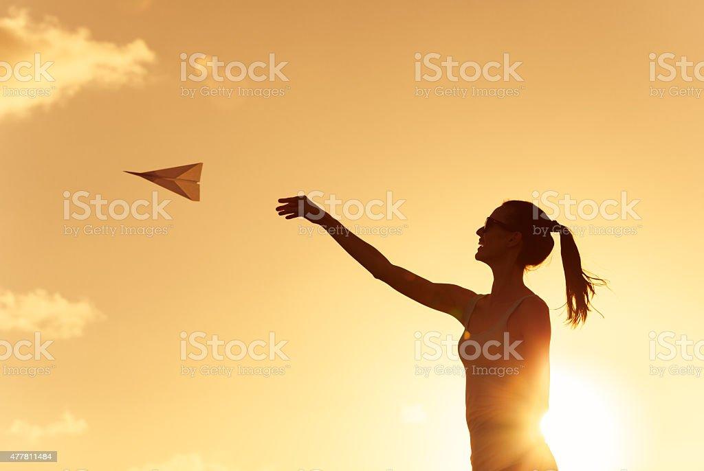 Take flight stock photo