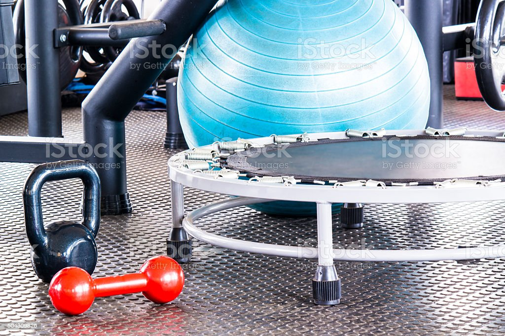 Take healthy life at gym stock photo