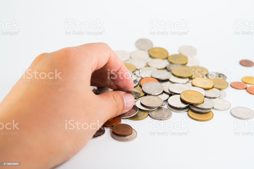 Take money stock photo