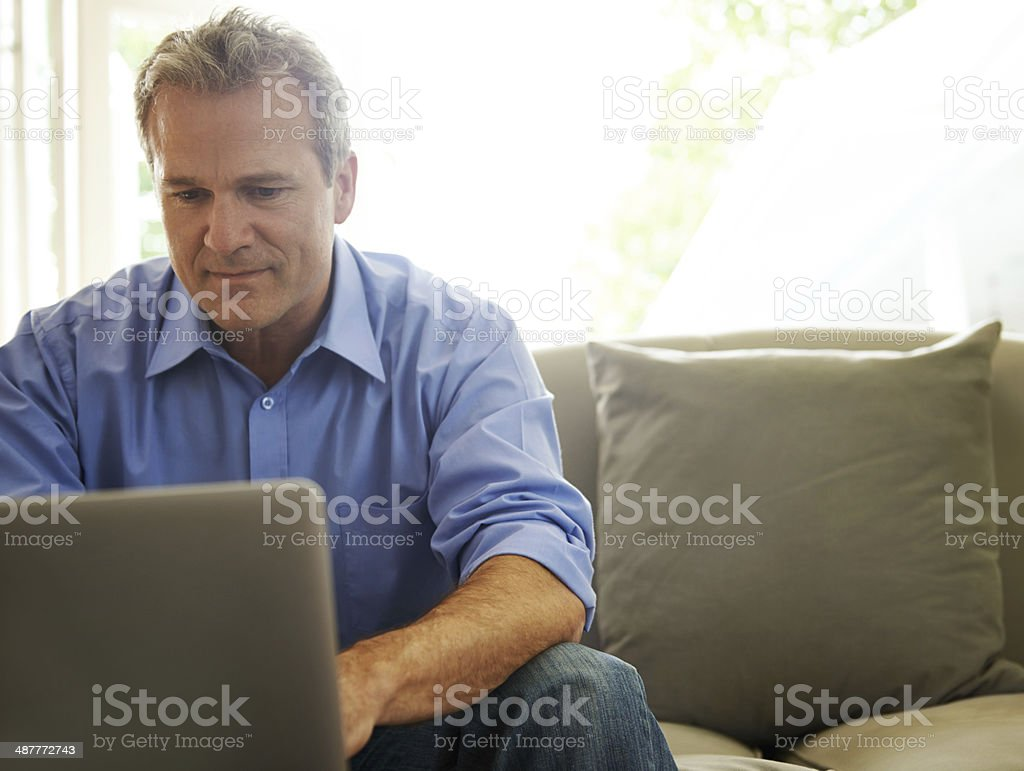I take my work everywhere stock photo