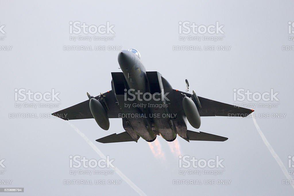 F-15 take off stock photo