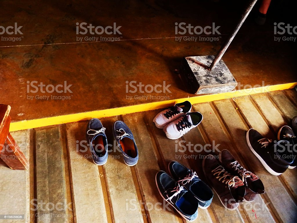 Take off Your Shoes stock photo