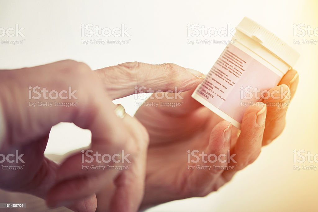 Take one tablet, twice daily... stock photo
