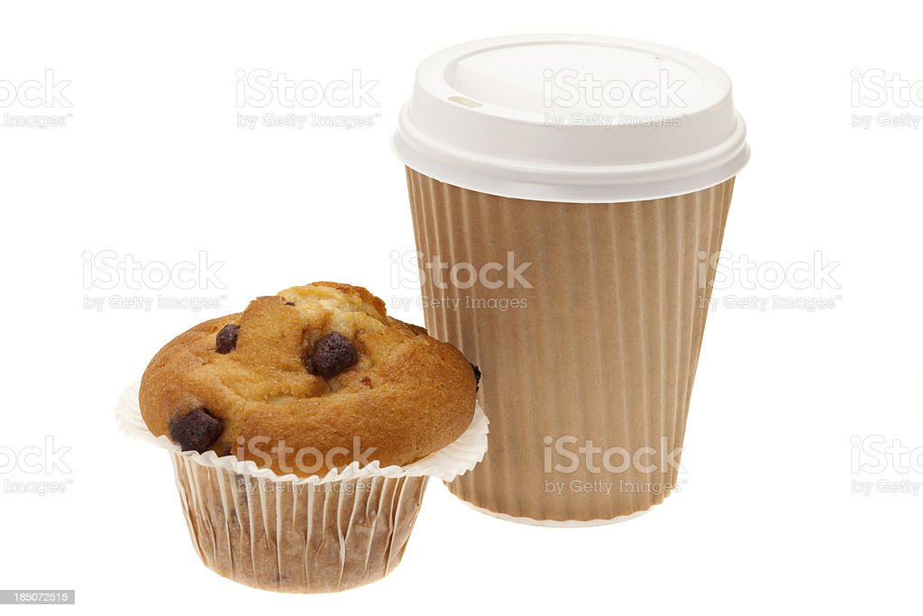 Take out breakfast on the go royalty-free stock photo