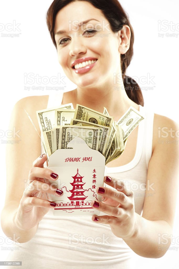 Take Out Cash royalty-free stock photo