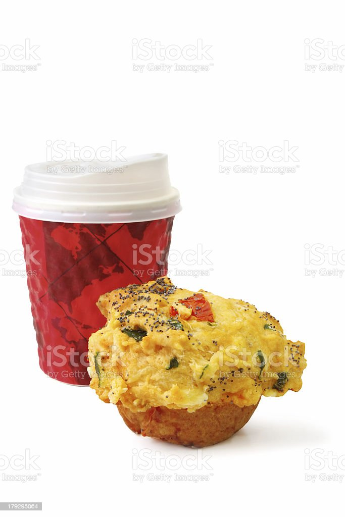 Take Out Cofffee and Muffin royalty-free stock photo