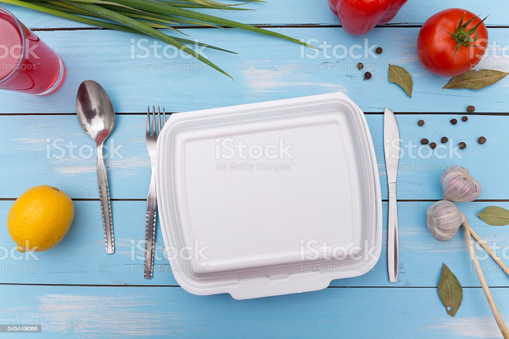 Take out food stock photo