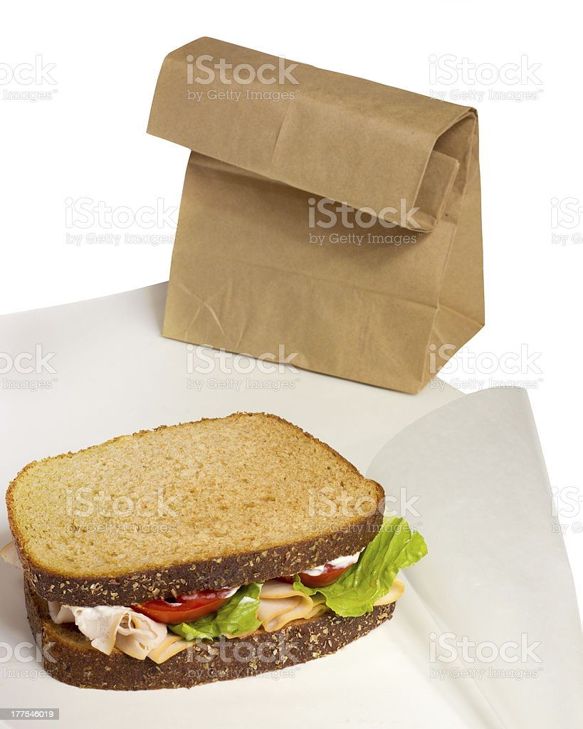 Take Out Lunch royalty-free stock photo