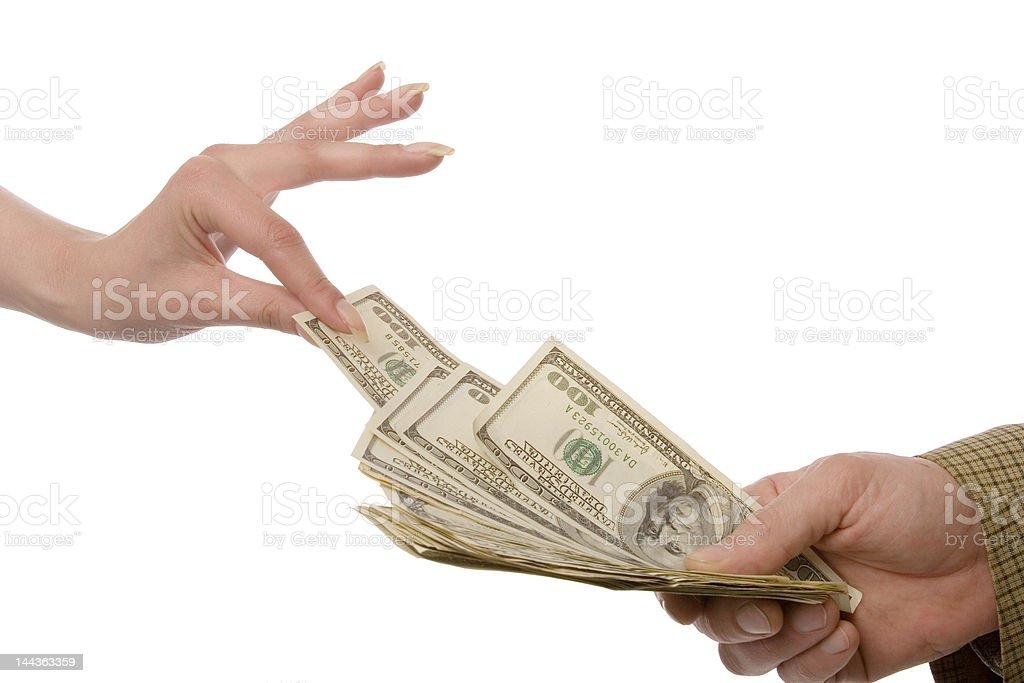 Take some money royalty-free stock photo