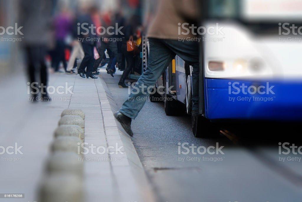 Take the bus stock photo