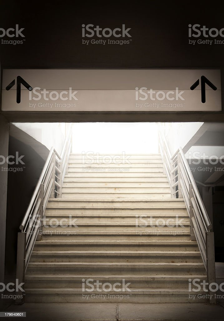 Take the exit royalty-free stock photo