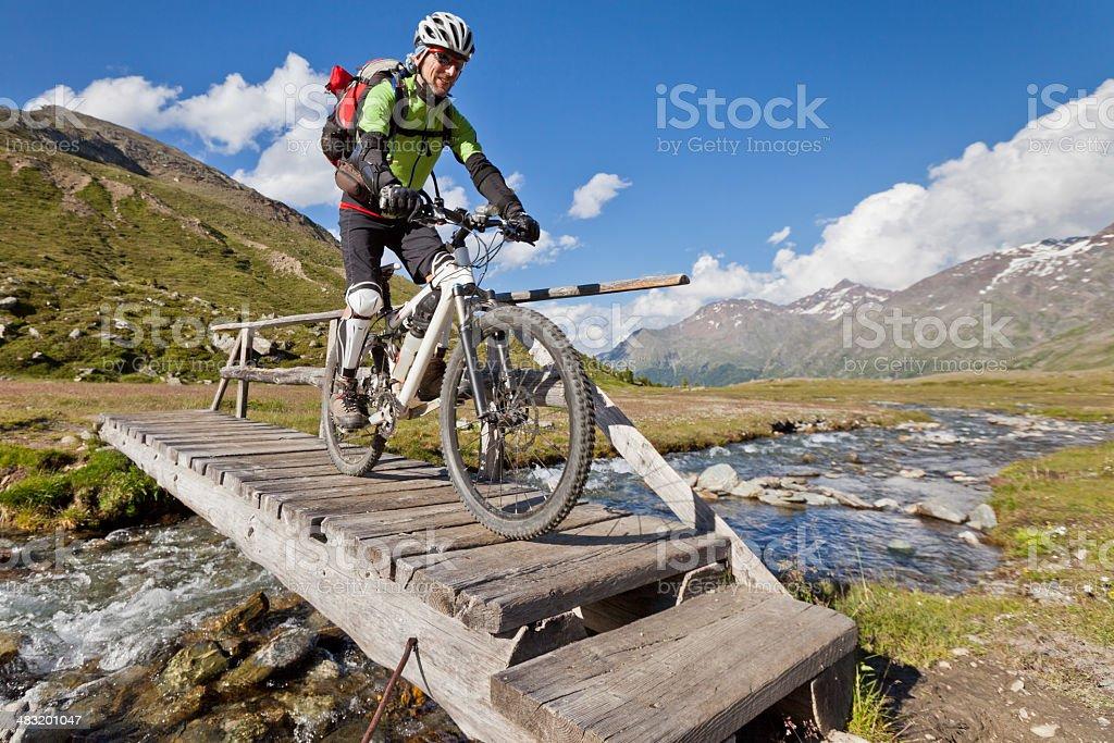 Take the footbridge stock photo