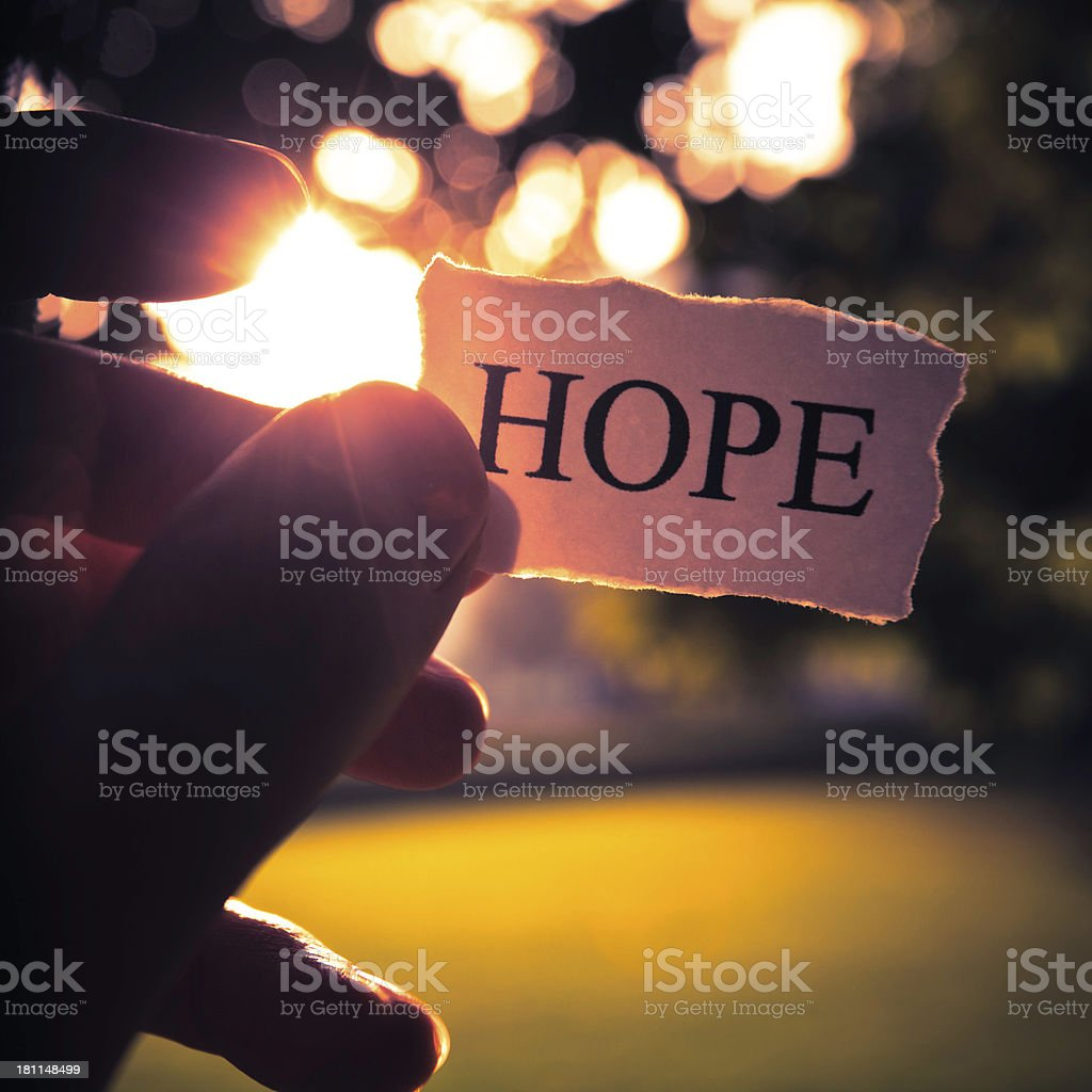 take the hope stock photo