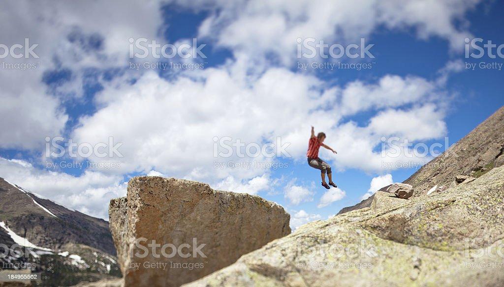 Take the leap! stock photo