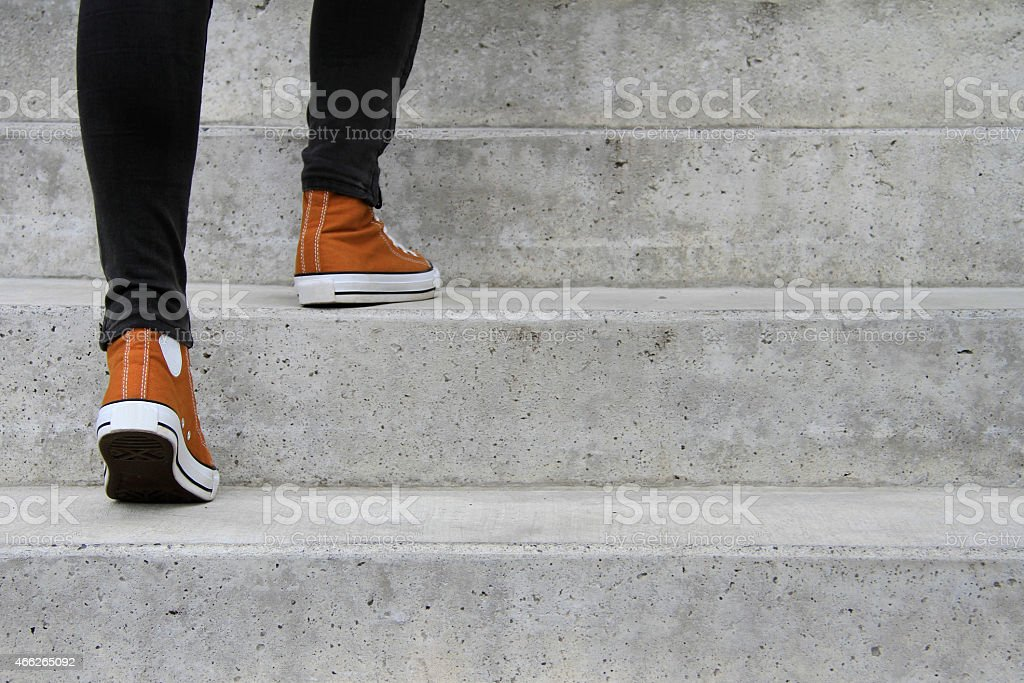 Take the next step stock photo