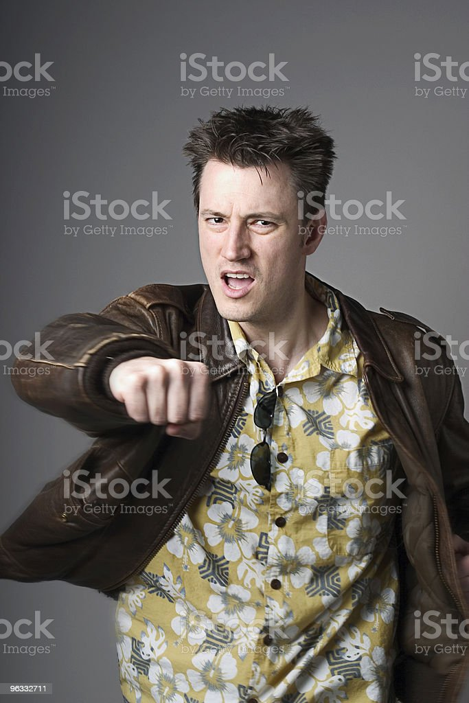 Take the Punch royalty-free stock photo