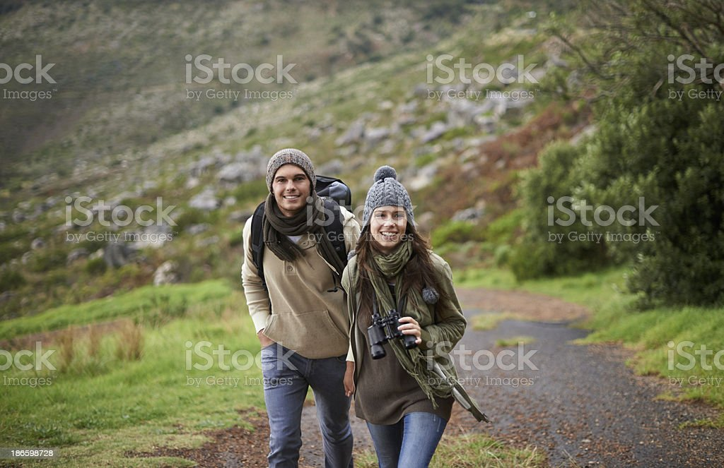 Take the road less traveled... stock photo