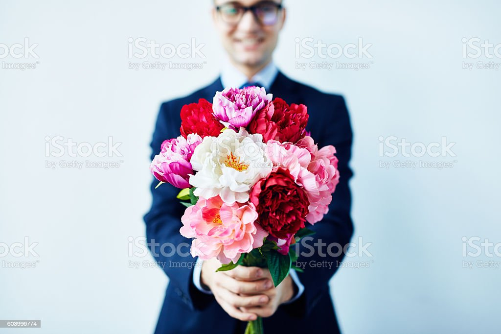 Take these flowers stock photo