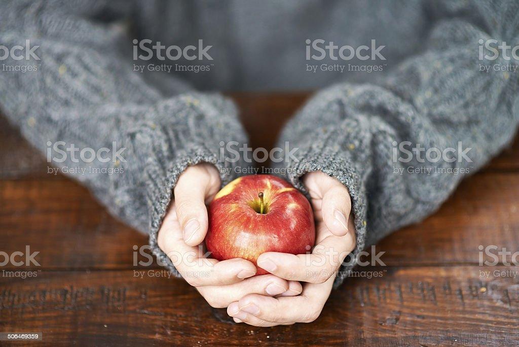 Take this apple royalty-free stock photo